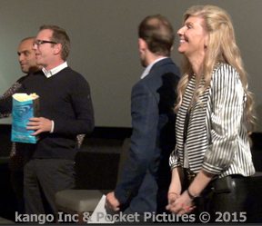 Best Theatre Experience ever! Kiefer Sutherland loves Kango Pocket on Popcorn bag Inventor: Michelle Messina